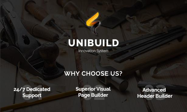 Factory, Industry, Construction Building WordPress Theme - Unibuild - 2