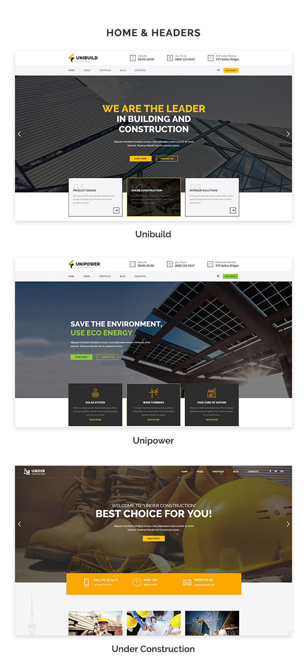 Factory, Industry, Construction Building WordPress Theme - Unibuild - 3