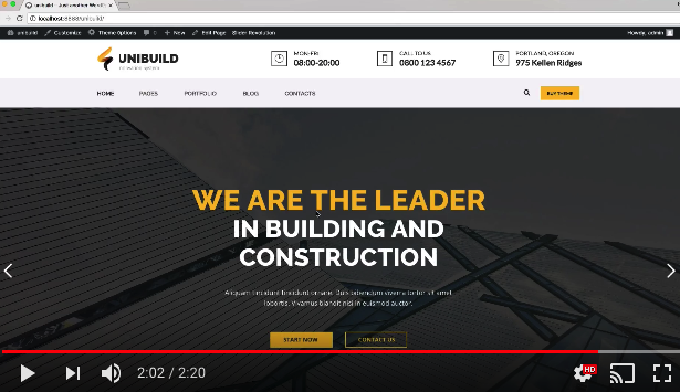 Factory, Industry, Construction Building WordPress Theme - Unibuild - 1